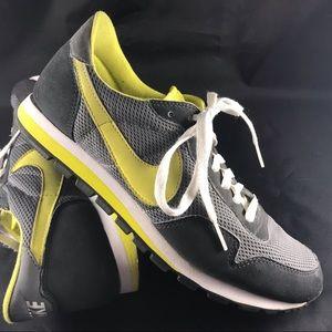 Rare vintage Nike Pegasus 89 slate grey & yellow 9